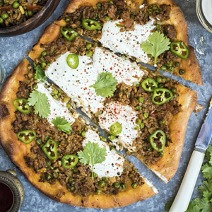 Lamb keema with yoghurt