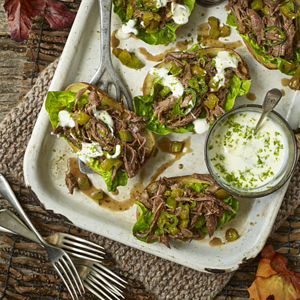 Baked potato skins with Lamb