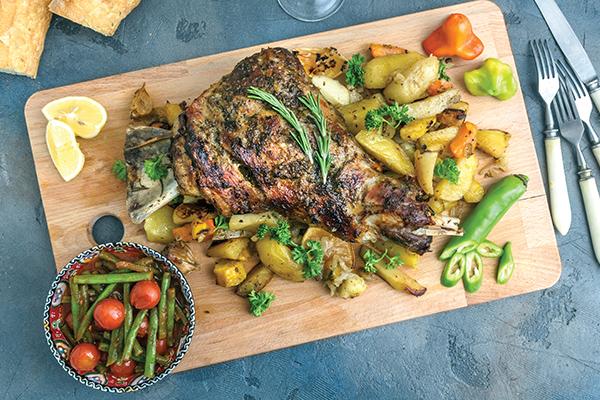 Freshly cooked Lamb