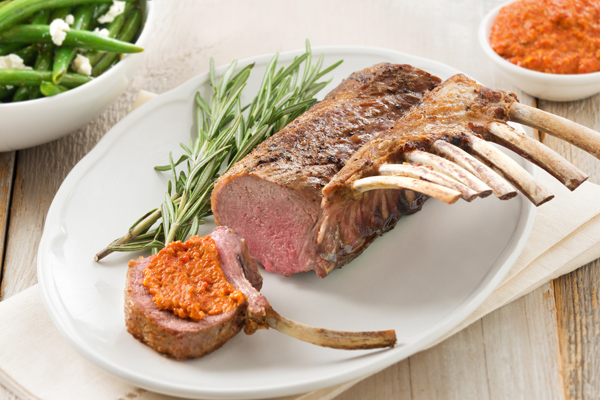 Cooked Lamb Rack